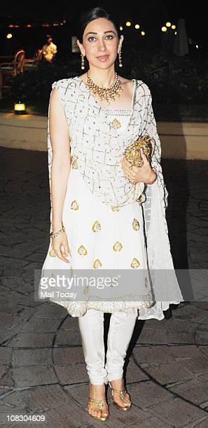 Karisma Kapoor during Sameer Soni and Neelam's wedding ceremony at Taj Land's End in Mumbai