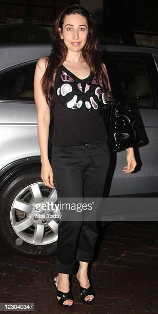 Karisma Kapoor during the special screening of her her sister Kareen Kapoor latest release Bodyguard at Ketnav in Mumbai on Sunday