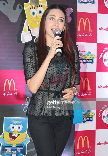 Karisma Kapoor unveils Happy Meal at McDonalds in Mumbai