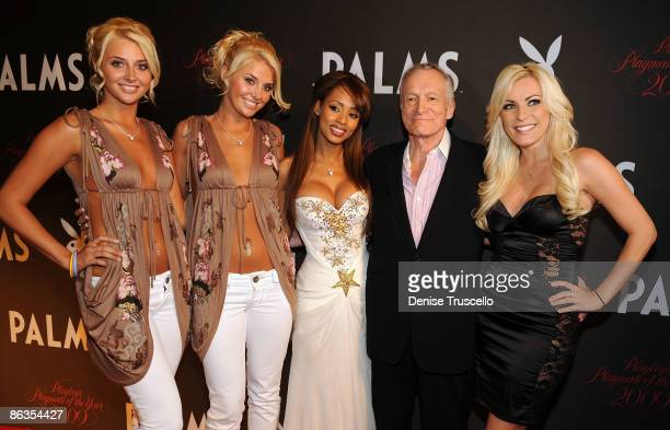 Karissa and Kristina Shannon 2009 Playmate of the Year Ida Ljungqvist Hugh Hefner and Crystal Harris arrives at Playboy's 50th Annual Playmate of the...