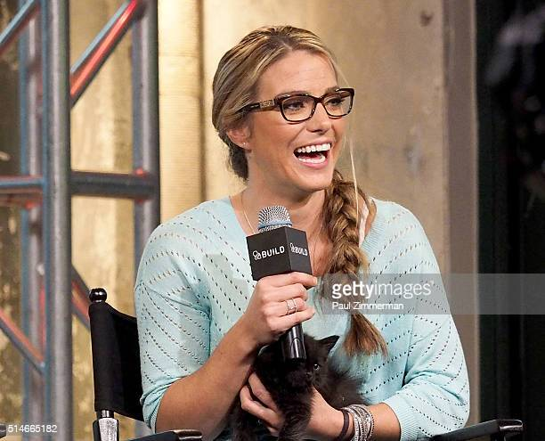 Karissa Hadden attends the AOL Build Speakers Series Karissa Hadden and Dustin Feldman Animal Storm Squad at AOL Studios In New York on March 10 2016...