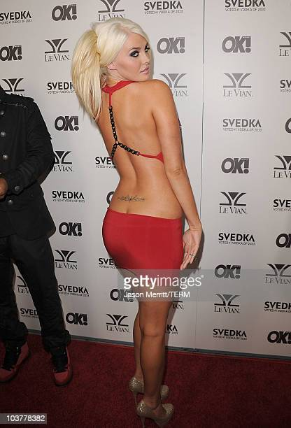 Karissa Shannon arrives at the OK Magazine USA 5th Anniversary Party on September 1 2010 in Hollywood California