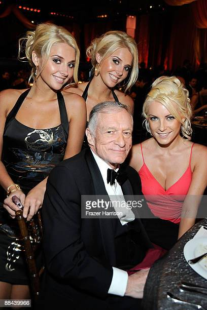 Karissa Shannon Kristina Shannon Hugh Hefner and Crystal Harris in the audience during the AFI Lifetime Achievement Award A Tribute to Michael...