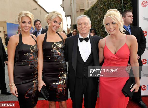 Karissa Shannon, Kristina Shannon, Playboy Publisher Hugh Hefner and Crystal Harris arrive at the AFI Life Achievement Awards: A Tribute to Michael...