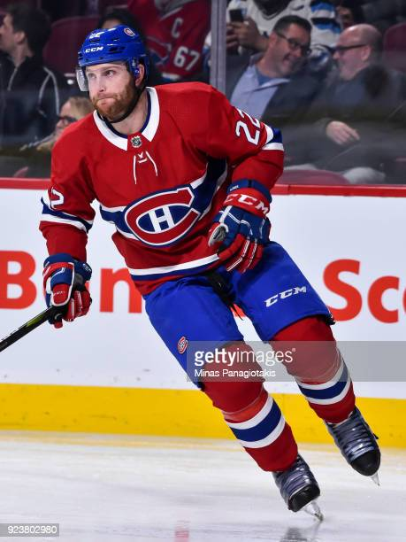 Karl Alzner of the Montreal Canadiens skates against the New York Rangers during the NHL game at the Bell Centre on February 22 2018 in Montreal...