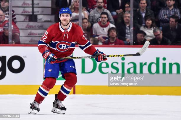 Karl Alzner of the Montreal Canadiens skates against the Vegas Golden Knights during the NHL game at the Bell Centre on November 7 2017 in Montreal...