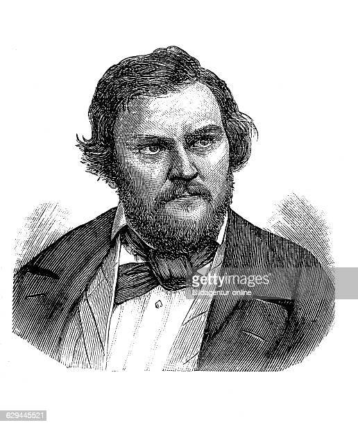 Karl august traugott vogt also known as carl vogt 1808 1869 a german theologian and professor of the university of greifswald wood engraving about...