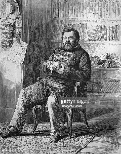 Karl august traugott vogt or carl vogt 18081869 german lutheran theologian and professor at greifswald university historical engraving 1869