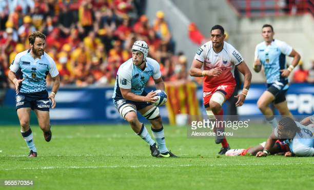 Karl Chateau of Perpignan during the French Pro D2 Final match between Perpignan and Grenoble on May 6 2018 in Toulouse France