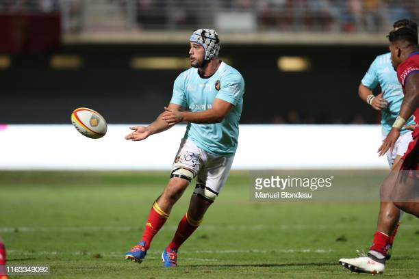 Karl Chateau of Perpignan during the Pro D2 match between Perpignan and Beziers on August 22 2019 in Perpignan France