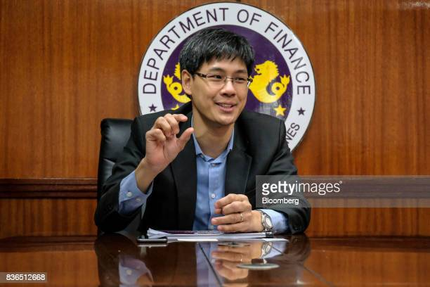 Karl Chua the Philippines' finance undersecretary speaks during an interview in Manila the Philippines on Monday Aug 14 2017 The Philippines risks...