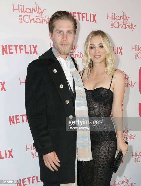 Karl Cook and Kaley Cuoco attend Seth Rogen's Hilarity For Charity at Hollywood Palladium on March 24 2018 in Los Angeles California