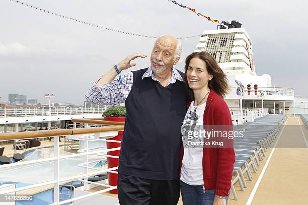 Karl Dall and his daughter Janina attend the Ship christening of `Mein Schiff 2` on April 14 2011 in Hamburg Germany
