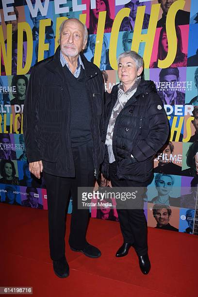 Karl Dall and his wife Barbara Dall attend the Berlin premiere of the film 'Die Welt der Wunderlichs' at Kant Kino on October 12 2016 in Berlin...