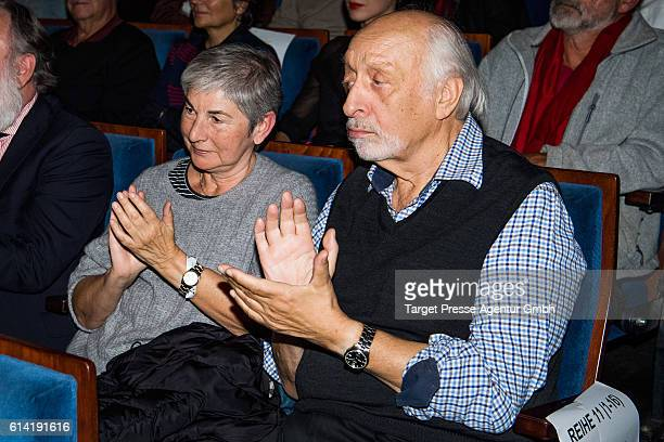 Karl Dall and his wife Barbara during the Berlin premiere of the film 'Die Welt der Wunderlichs' at Kant Kino on October 12 2016 in Berlin Germany