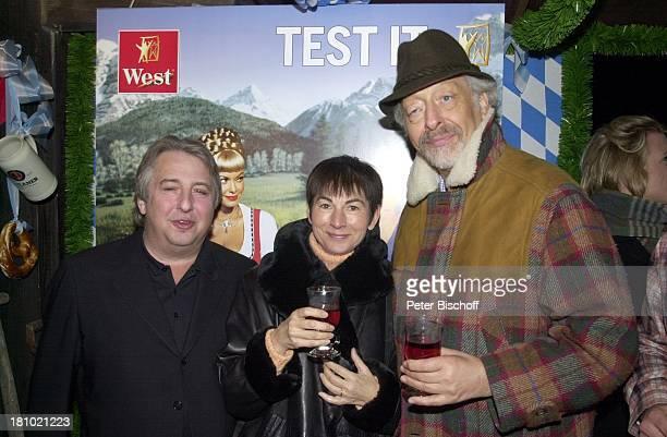 Karl Dall Ehefrau Barbara SansibarWirt Herbert Seckler Hüttenfest Sansibar Sylt Nordsee Getränk Glas