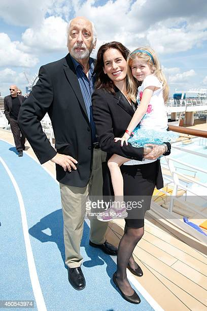 Karl Dall Janina Dall and her daughter Nelina Dall attend the christening of the ship 'Mein Schiff 3' on June 12 2014 in Hamburg Germany