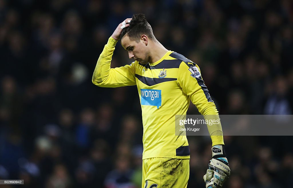 Karl Darlow of Newcastle United leaves the pitch after his team's 0-1 defeat in the Barclays Premier League match between West Bromwich Albion and Newcastle United at The Hawthorns on December 28, 2015 in West Bromwich, England.