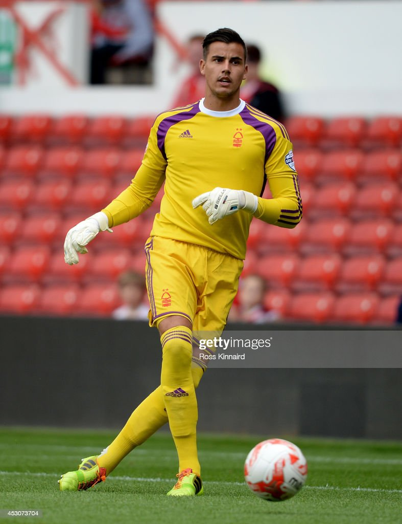Karl Darlow of Nottingham Forest during the pre season friendly match between Nottingham Forest and West Bromwich Albion at the City Ground on August 2, 2014 in Nottingham, England.