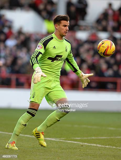 Karl Darlow of Nottingham Forest during the Sky Bet Championship match between Nottingham Forest and Leeds United at City Ground on December 29 2013...