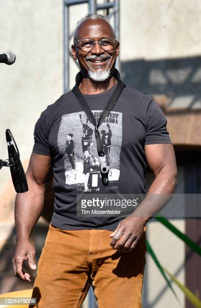 Karl Denson of Karl Denson's Tiny Universe performs at Charles Krug Winery on June 19, 2021 in St Helena, California.