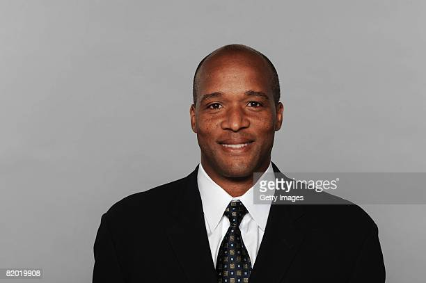 Karl Dorrell of the Miami Dolphins poses for his 2008 NFL headshot at photo day in Miami Florida