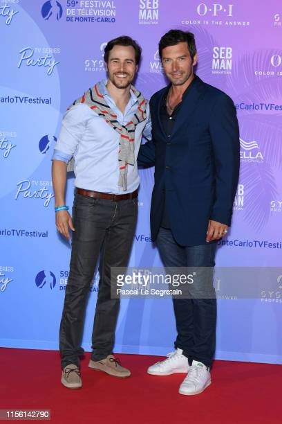 Karl E Landler and Franck Semonin arrive at the 59th Monte Carlo TV Festival TV Series Party on June 15 2019 in MonteCarlo Monaco