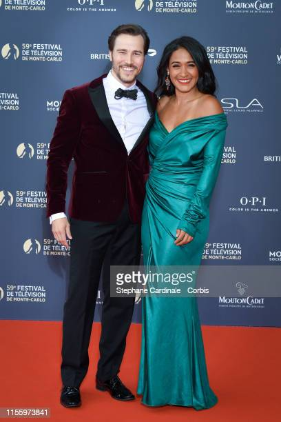Karl E. Landler and Josephine Jobert attend the opening ceremony of the 59th Monte Carlo TV Festival on June 14, 2019 in Monte-Carlo, Monaco.