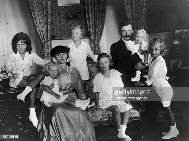 Karl Franz Josef formerly the last Emperor of Austria and the last King of Hungary and Bohemia with his family in Switzerland 8th February 1921 From...