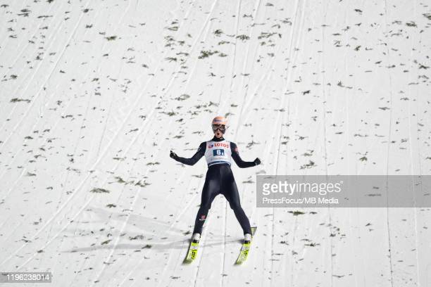 Karl Geiger of Germany during team competition of the FIS Ski jumping World Cup in Zakopane on January 25 2020 in Zakopane Poland