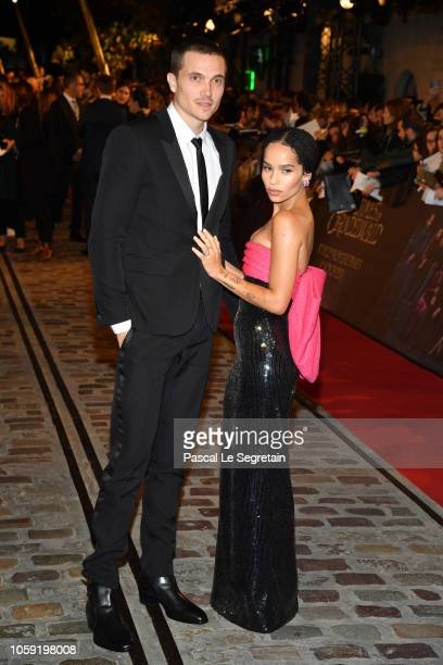 "Karl Glusman and Zoe Kravitz attend ""Fantastic Beasts: The Crimes Of Grindelwald"" World Premiere at UGC Cine Cite Bercy on November 8, 2018 in Paris,..."