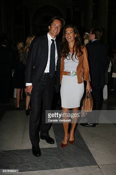 Karl Hainz Grasser and Fiona Swarovski during Elle Macpherson and Arpad Busson in Rome for the Baptism of their Son Aurelius cy Andrea at Basilica...