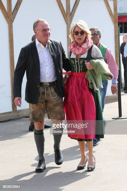 Karl Heinz Rummenigge and his wife Martina Rummenigge during the FC Bayern Wies'n as part of the Oktoberfest at Theresienwiese on September 23 2017...