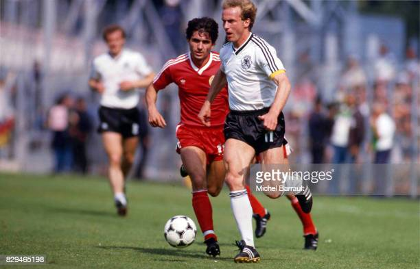 Karl Heinz Rummenigge during the World Cup match between Germany and Chile at El Molinon Stadium Gijon Spain on 20th June 1982
