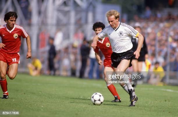 Karl Heinz Rummenigge of German Federal Republic during the European Championship match between German Federal Republic and Portugal at La Meinau...