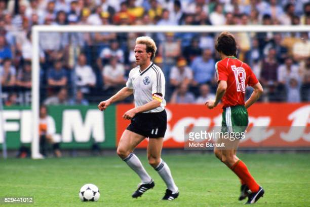 Karl Heinz Rummenigge of West Germany during the European Championship match between West Germany and Portugal at Meinau Strasbourg Paris on 14th...