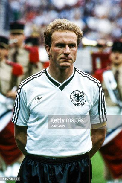 Karl Heinz Rummenigge of West Germany during the Football European Championship between West Germany and and Spain Paris France on 20 June 1984