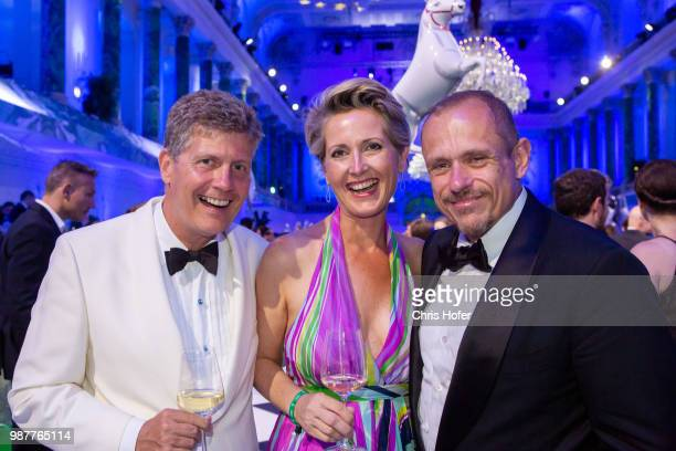 Karl Hohenlohe Martina Hohenlohe Gery Keszler during the Fete Imperiale 2018 on June 29 2018 in Vienna Austria