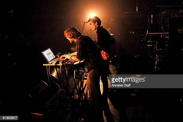 Karl Hohn and Jan Rosenfeld of Yes Giantess perform on stage as part of the NME Radar Tour at KOKO on October 13 2009 in London England