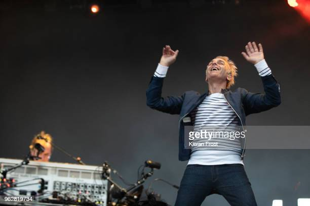 Karl Hyde of Underworld performs at the BBC 6Music Biggest Weekend at Titanic Slipways on May 26 2018 in Belfast Northern Ireland