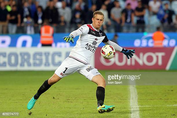 Karl Johan JOHNSSON OF GUINGAMP during the Ligue 1 match between SC Bastia and EA Guingamp at Stade Armand Cesari on September 24 2016 in Bastia...