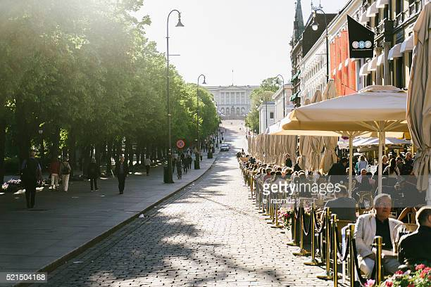 karl johand gate, oslo, norway - oslo stock pictures, royalty-free photos & images