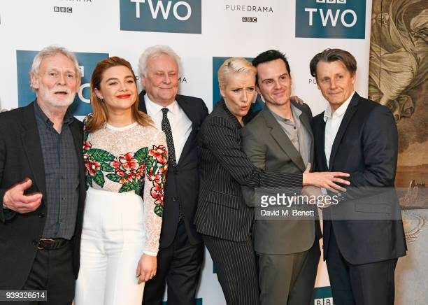 Karl Johnson Florence Pugh Sir Richard Eyre Emma Thompson Andrew Scott and Anthony Calf attend a special screening of new BBC Two drama 'King Lear'...