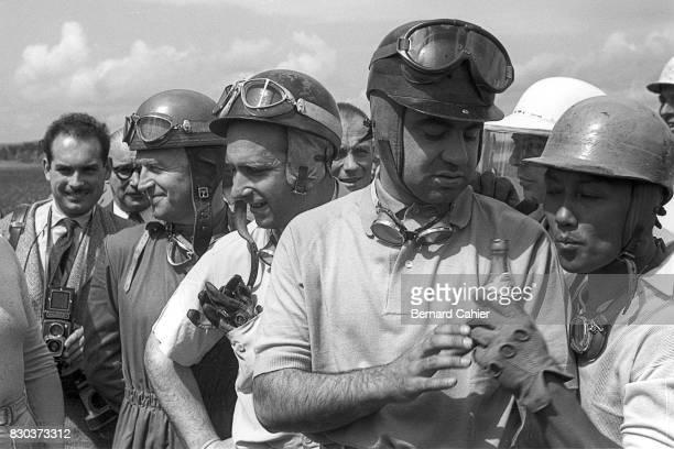 Karl Kling Juan Manuel Fangio Onofre Marimon Prince Bira Grand Prix of France Reims 04 July 1954