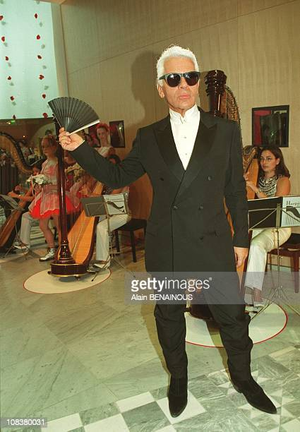 Karl Lagarfeld in Monaco on August 03 2001