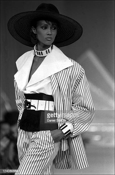 Karl Lagarfeld presents Chloe's spring -summer ready to wear collections In Paris, France In October, 1981.