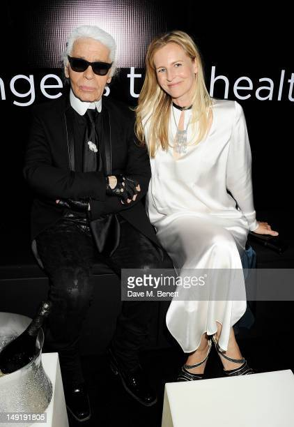 Karl Lagerfeld and Alannah Weston attend a private cocktail party celebrating the launch of Karl Lagerfeld's collections 'KARL ' and 'KARL LAGERFELD...