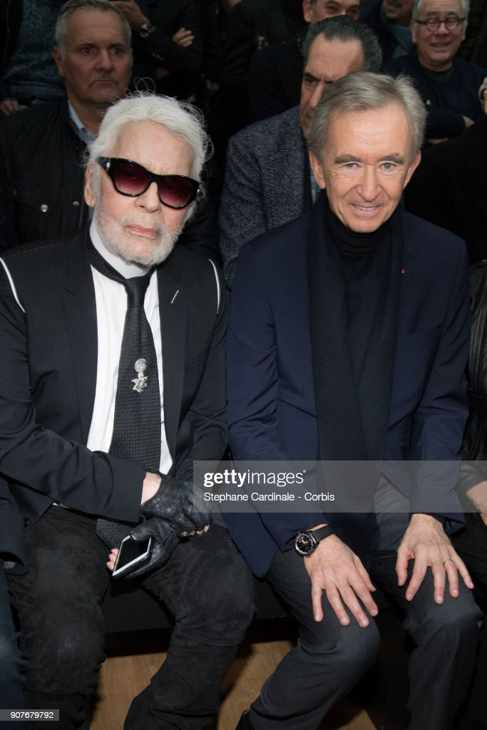 Dior Homme : Front Row - Paris Fashion Week - Menswear Fall Winter 2018/2019 : News Photo