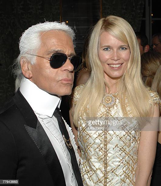 Karl Lagerfeld and Claudia Schiffer