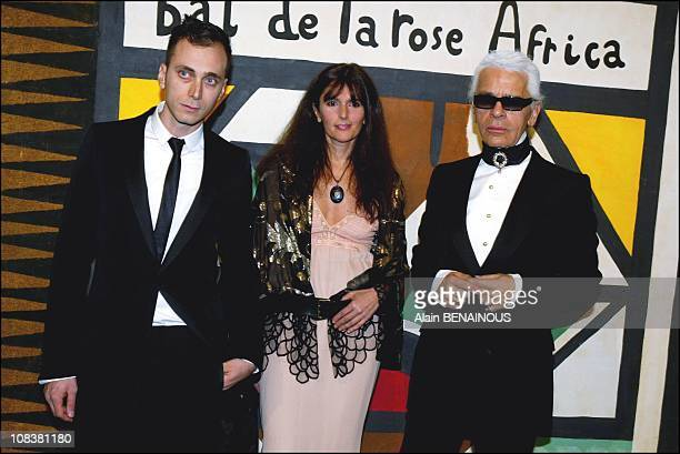 Karl Lagerfeld and Hedi Slimane in Monaco on March 22 2003